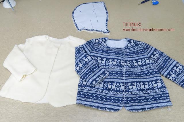 como hacer abrigo acolchado para bebé