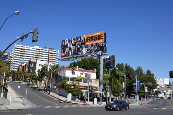 Rise TV billboard Sunset Strip