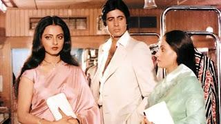 Amitabh Bachchan, jaya bachchan and Rekha in Film 'Silsila'