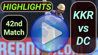 KKR vs DC 42nd Match