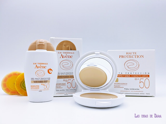 Maquillaje protección solar  Avène pierre fabre dermocosmetica sunprotect belleza salud sol verano
