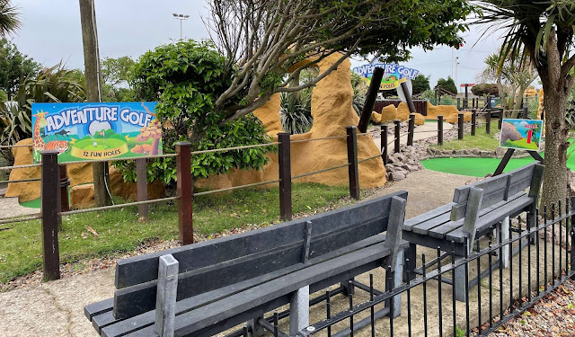 Adventure Golf at the Pleasure Beach Gardens in Great Yarmouth. Photo by Christopher Gottfried, June 2021