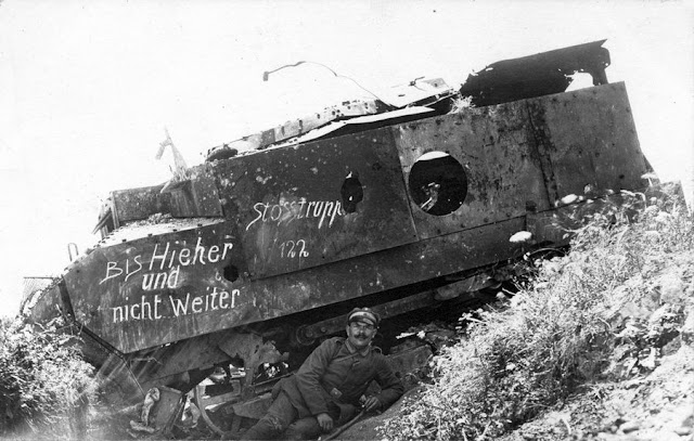 German soldier destroyed French tank, Schneider CA1