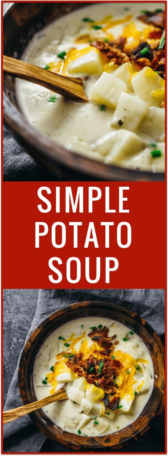 Creamy Potato Soup with Bacon and Cheddar Recipe