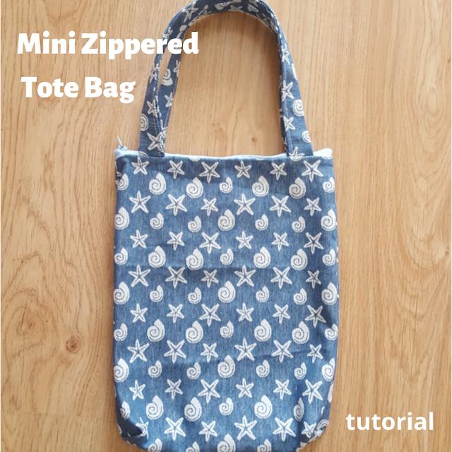 Mini Zippered Tote Bag tutorial