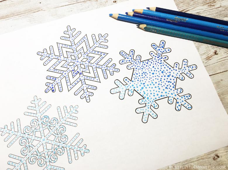 easy snowflake art for kids