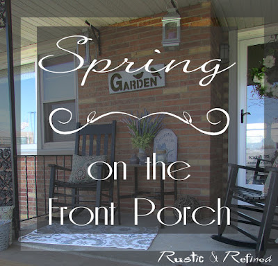 Front Porch decorated for the Spring Season
