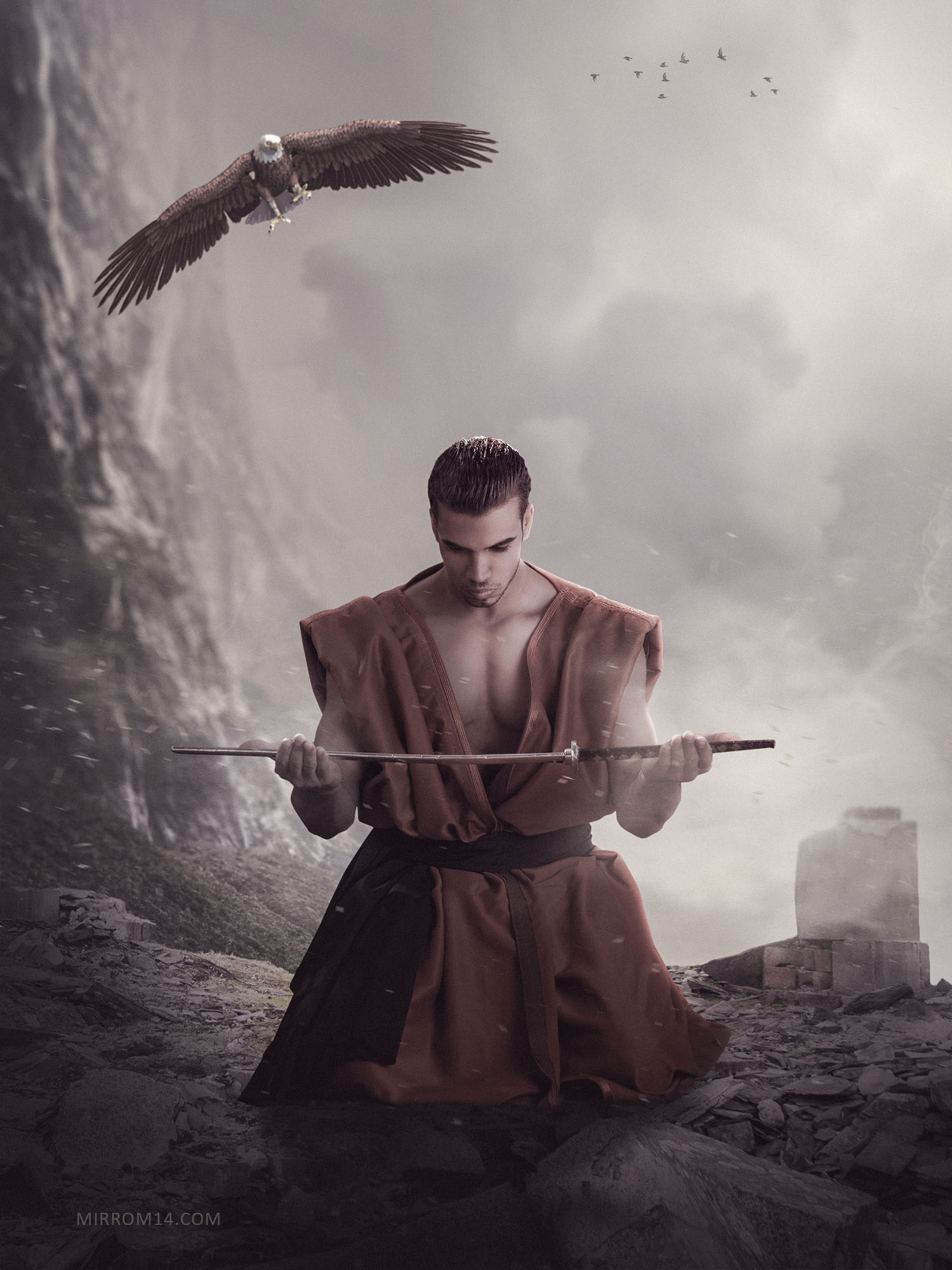 Eagle Sword Photo Manipulation in Photoshop