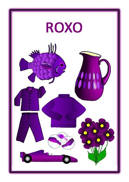 Atividades Cores Primárias - Roxo