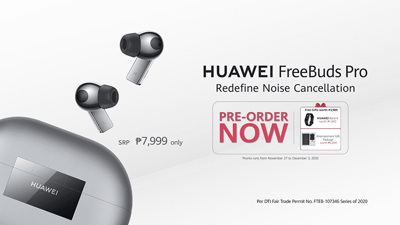 FREE Huawei Band 4 and Entertainment Gift Package when you pre-order