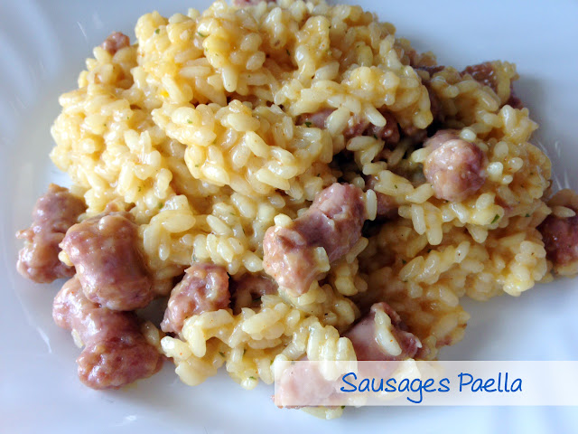 Sausages paella