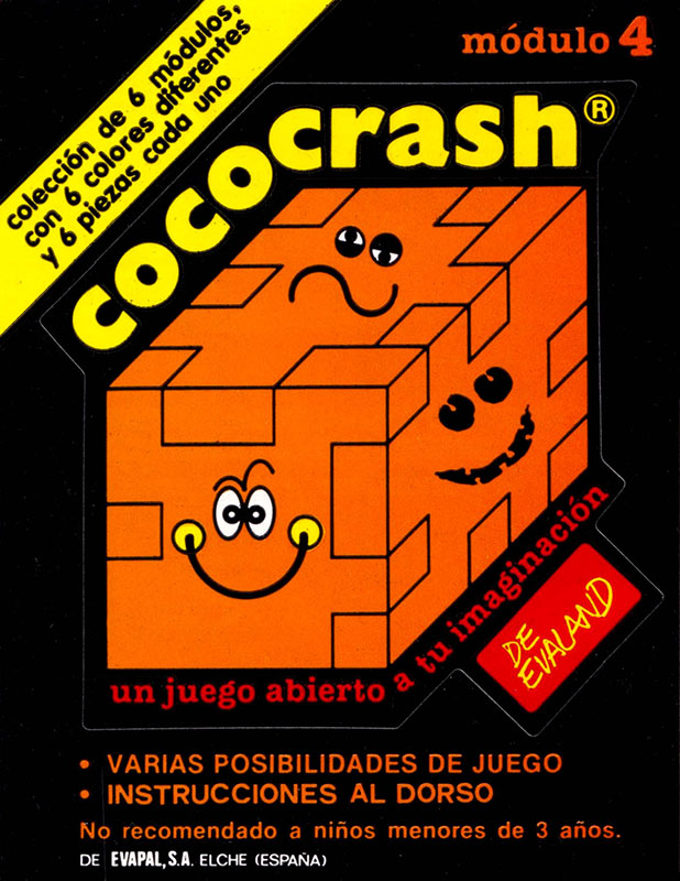 Cococrash 1986 Pegatina nivel 4
