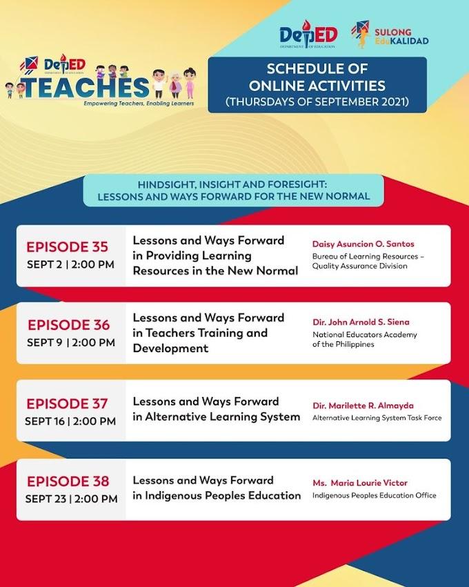 4-Day DepEd Teaches New Webinar Series for Teachers | Episodes 35-38 | September 2, 9, 16 & 23 | REGISTER NOW!