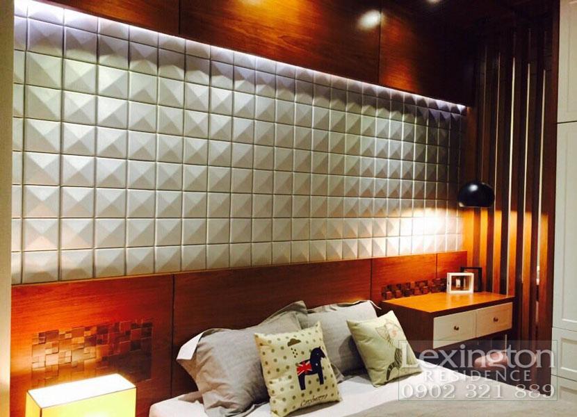 dự án lexington cho thuê căn hộ 1 phòng ngủ - đầu giường phòng ngủ