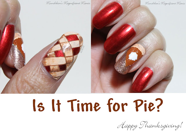 Thanksgiving Pie Nail Design