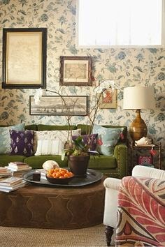 The Long And Short Of It The Green Velvet Sofa