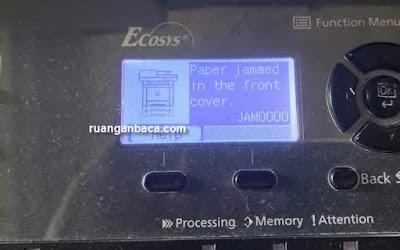 Solusi Kyocera Error JAM000