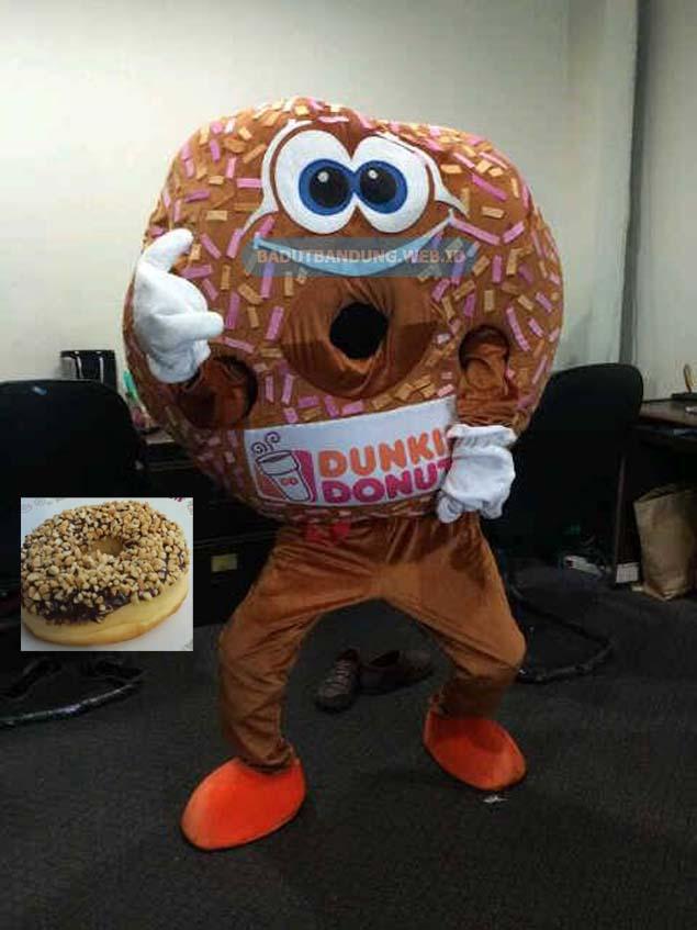 Badut donat maskot dunkin donuts