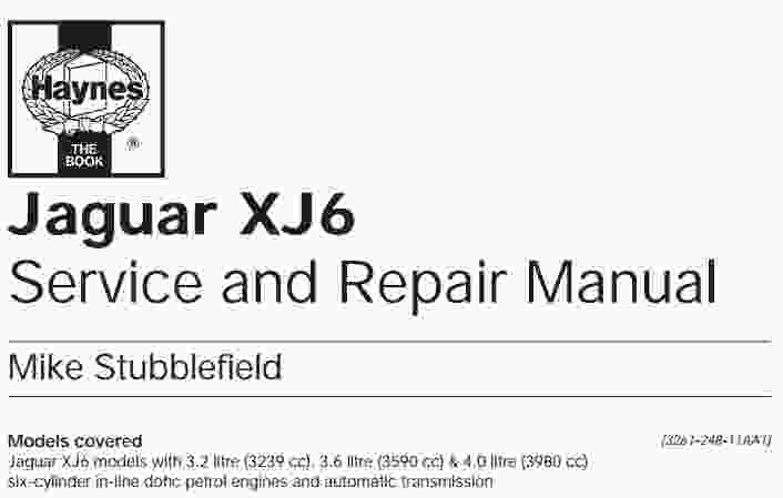 Jaguar XJ6 Service Manual  Wiring Diagram Service Manual PDF