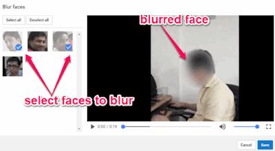 pilih wajah yang akan diberi efek blur