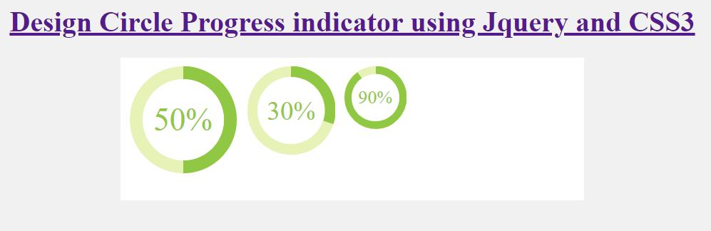 Design Circle Progress indicator using Jquery, HTML and CSS3 | SKPTRICKS