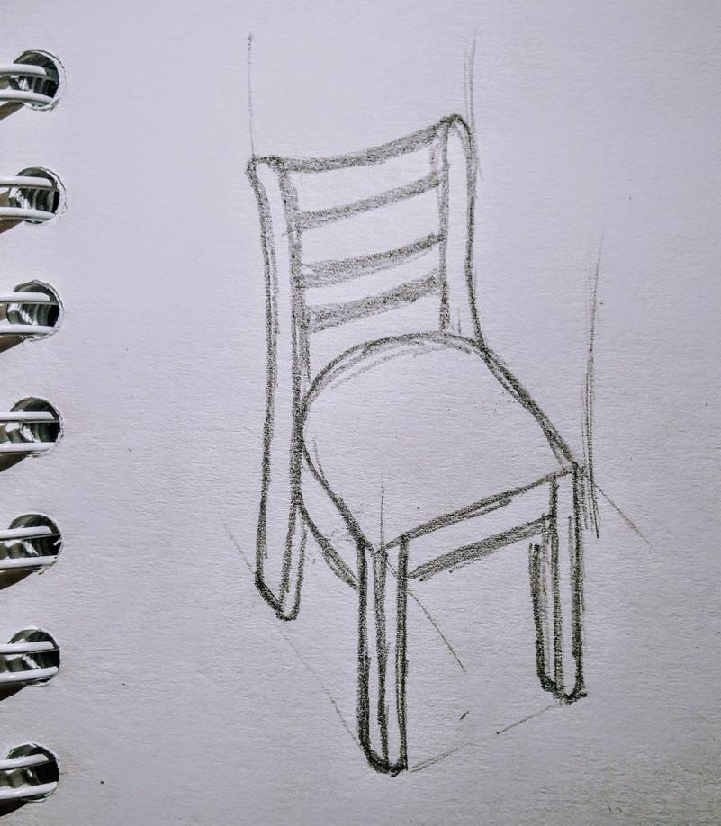 Ilustración de una silla