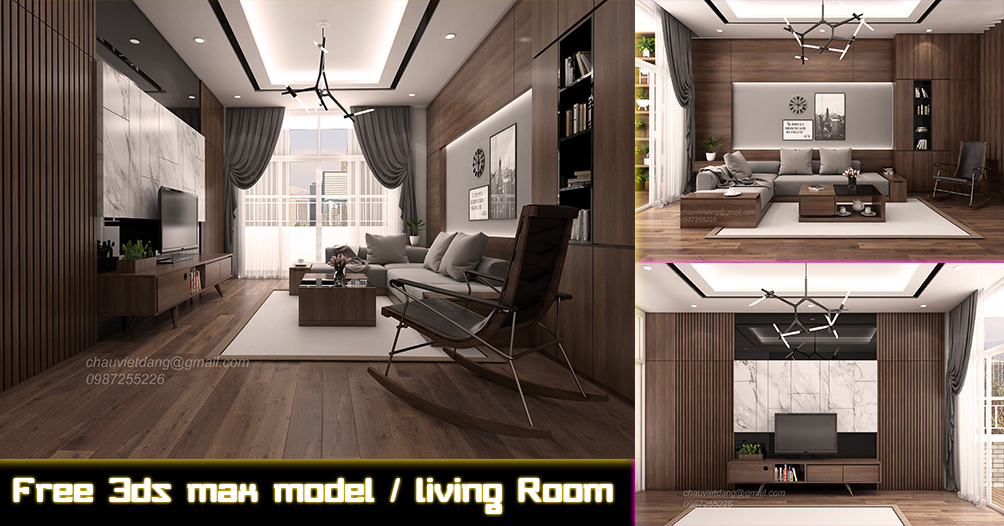 Free Sketchup 3d model classic Living Room#08 - Architecture Design ...