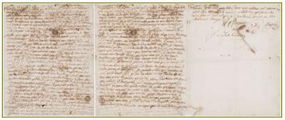María Antonieta carta