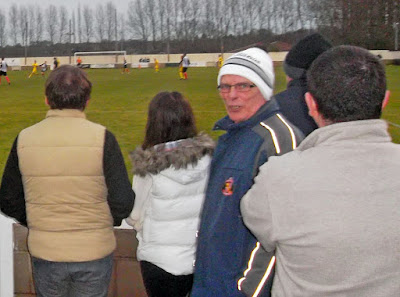Picture: Brigg Town FC supporter Johnny North watching the Boxing Day 2012 match at The Hawthorns against Kings Lynn at The Hawthorns - see Nigel Fisher's Brigg Blog