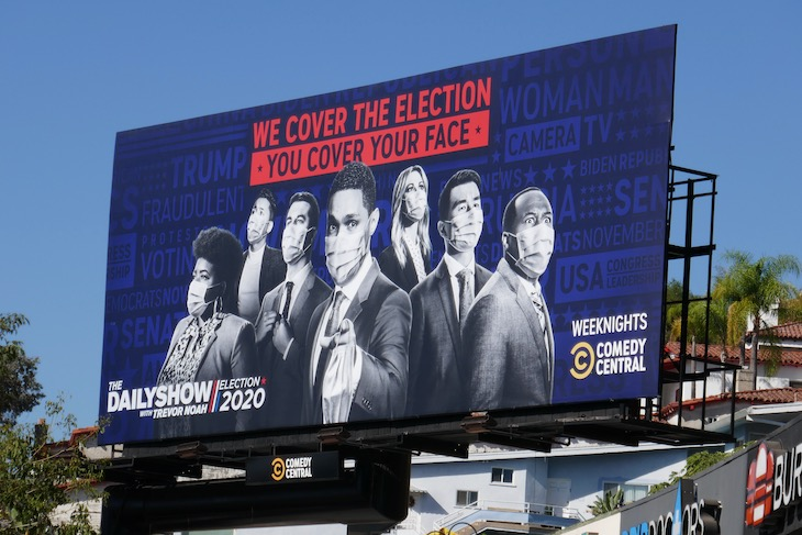 Election Daily Show Trevor Noah billboard