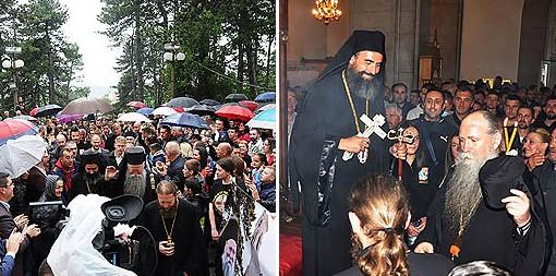 Верни народ Никшића дочекао архијереје Јоаникија и Методија