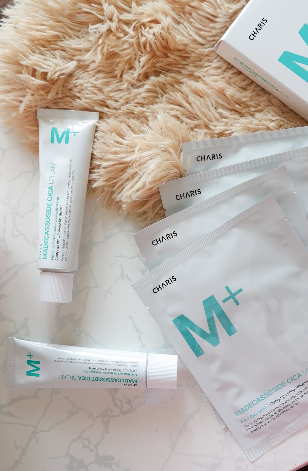 CHARIS: M+ MADECASSOSIDE CICA CREAM AND SHEET MASK REVIEW
