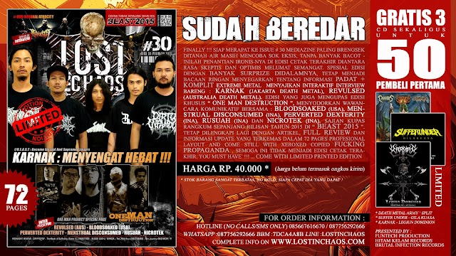 SUDAH BEREDAR !!! LOSTINCHAOS # 30 - The Ultimate Printed Issue