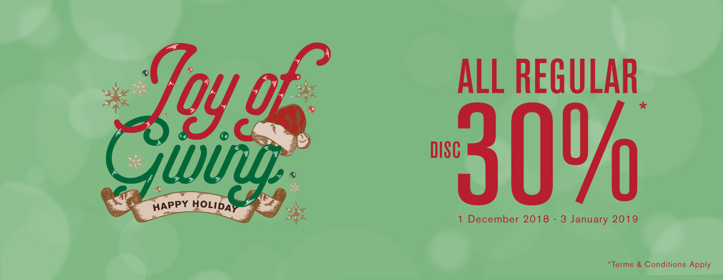 9to9 - Promo Diskon s.d 30% di Joy of Giving Happy Holiday 2018