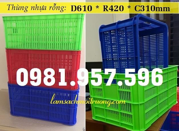 Thùng nhựa rỗng 3T1, thùng nhựa hở 3T1, sóng nhựa rỗng