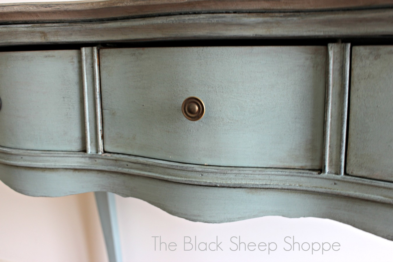 Antique Desk: Duck Egg Blue and Coco