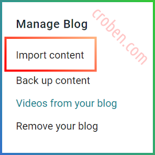 Restore Contents In Blogger Step 2
