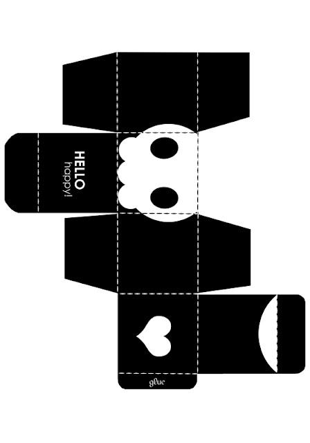 descarga gratis caja halloween forma de cubo con calavera
