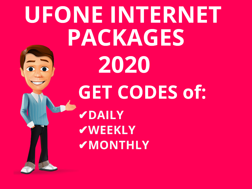 Get Ufone Packages Internet Weekly One Day With Daily Monthly Package code Ufone 3 Day One Day Internet Package Ufone Ufone all Internet Packages Codes 2020...