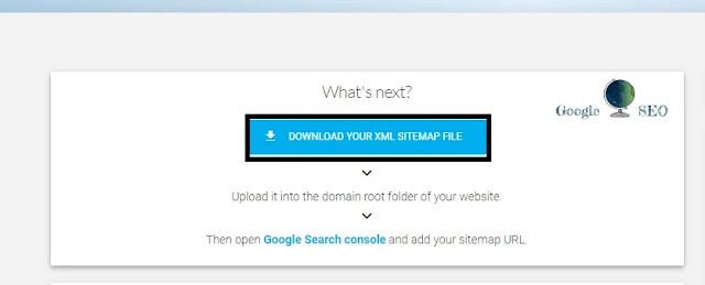 download sitemap file