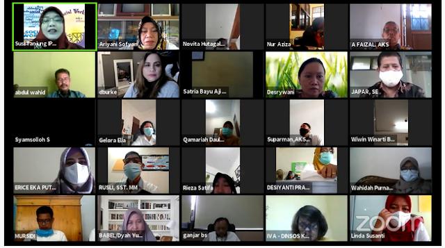 Webinar Pekerja Sosial Mengorganisasikan Dirinya Dalam Sistem Praktik Profesional