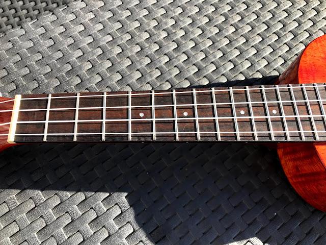 oiled ukulele fretboard