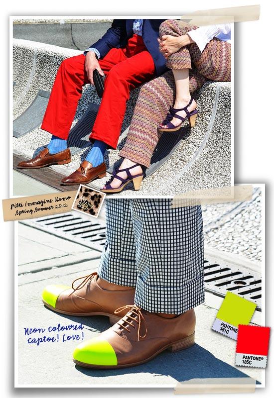 5b4fe97b3b82 Below  Neon coloured captoe on shoes is stunning!