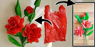 Cara Membuat Bunga Mawar Dari Plastik Kresek Yang Simple