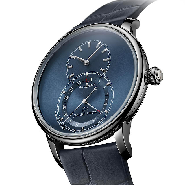 Jaquet Droz Grande Seconde Quantième Satin-brushed Blue J007030249