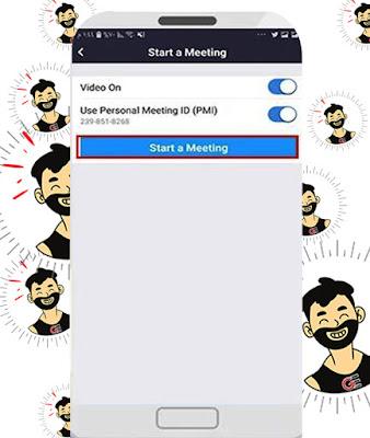 كيفية البدء في عمل إجتماع على تطبيق زووم