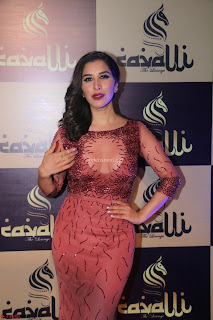 Actress Sophie Choudry in Transparent Red Dress (11).JPG