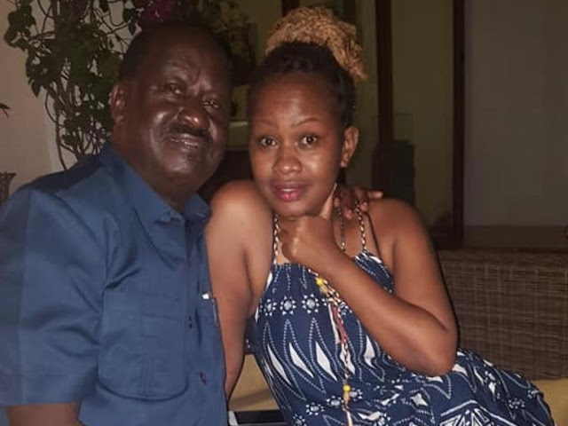 Photos Raila Odinga with Sasha Mbote in Zanzibar. PHOTO | FILE