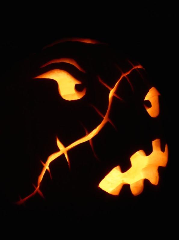 Scarface Halloween pumpkin design