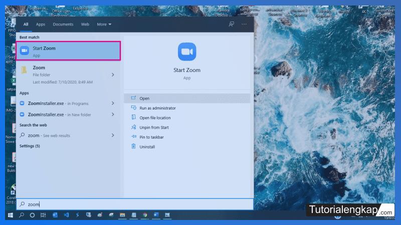 tutorialengkap cara login akun Zoom pada Aplikasi Zoom di Laptop